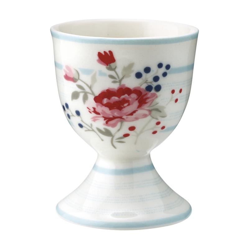 GreenGate Stoneware Egg Cup Fiona Pale Blue H 6,5 cm