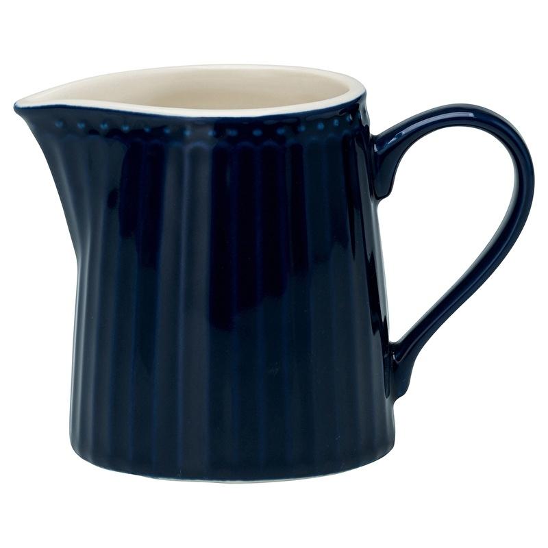 GreenGate Stoneware Creamer Alice Dark Blue H 9 cm
