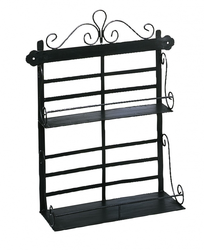Comptoir de Famille Spices Rack 2 Shelves Rust 37 x 14 x H. 46 cm