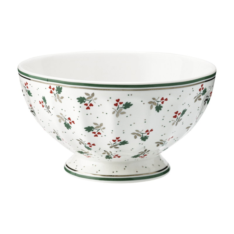 GreenGate Stoneware French Bowl Extra Large Joselyn White D 13,5 cm