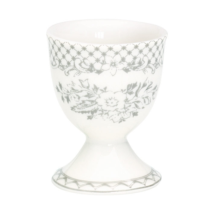 GreenGate Stoneware Egg Cup Stephanie Warm Grey H 6,5 cm