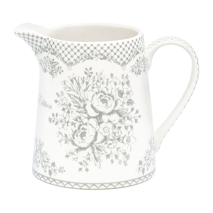 GreenGate Stoneware Jug Stephanie Warm Grey 0,5 Ltr.