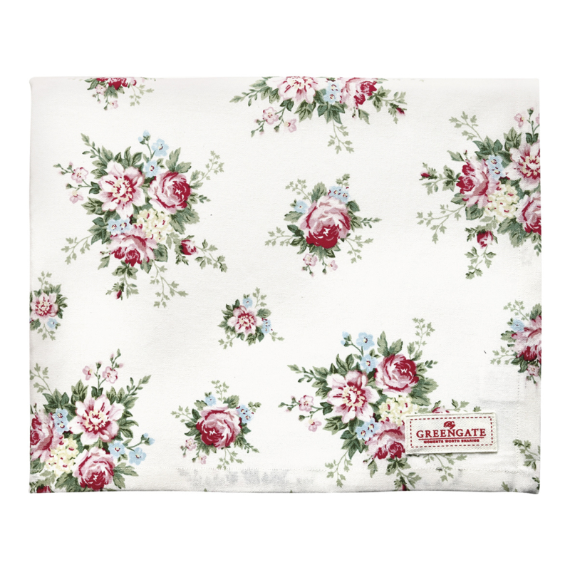 GreenGate Tablecloth Aurelia White 150 x 150 cm