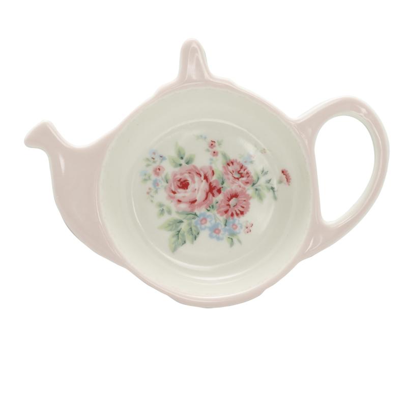 GreenGate Stoneware Teabag Holder Marley Pink 10,0 x 12,5 cm
