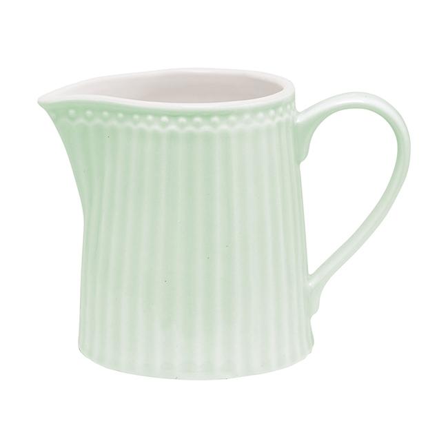 GreenGate Stoneware Creamer Alice Pale Green H 9 cm
