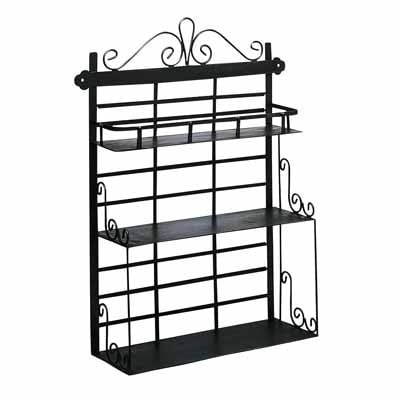 Comptoir de Famille Spices Rack 3 Shelves Rust 46 x 16 x H66 cm