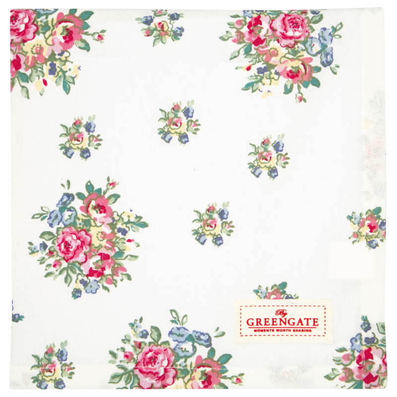 GreenGate Tablecloth Franka White 100 x 100 cm