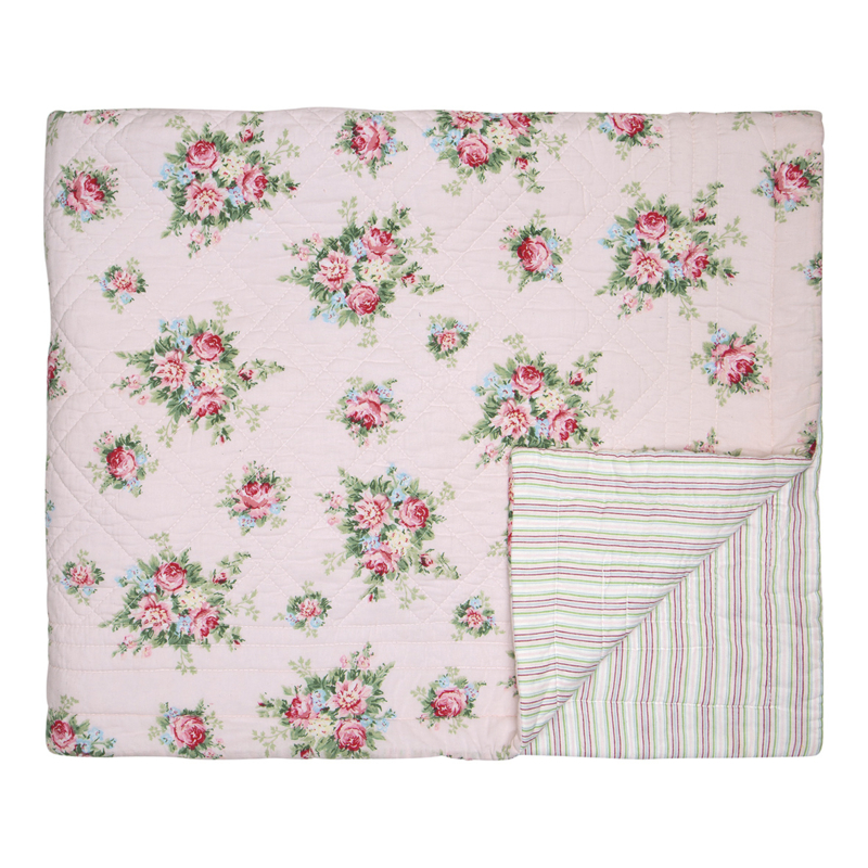 GreenGate Bed Cover Aurelia Pale Pink 140 x 220 cm