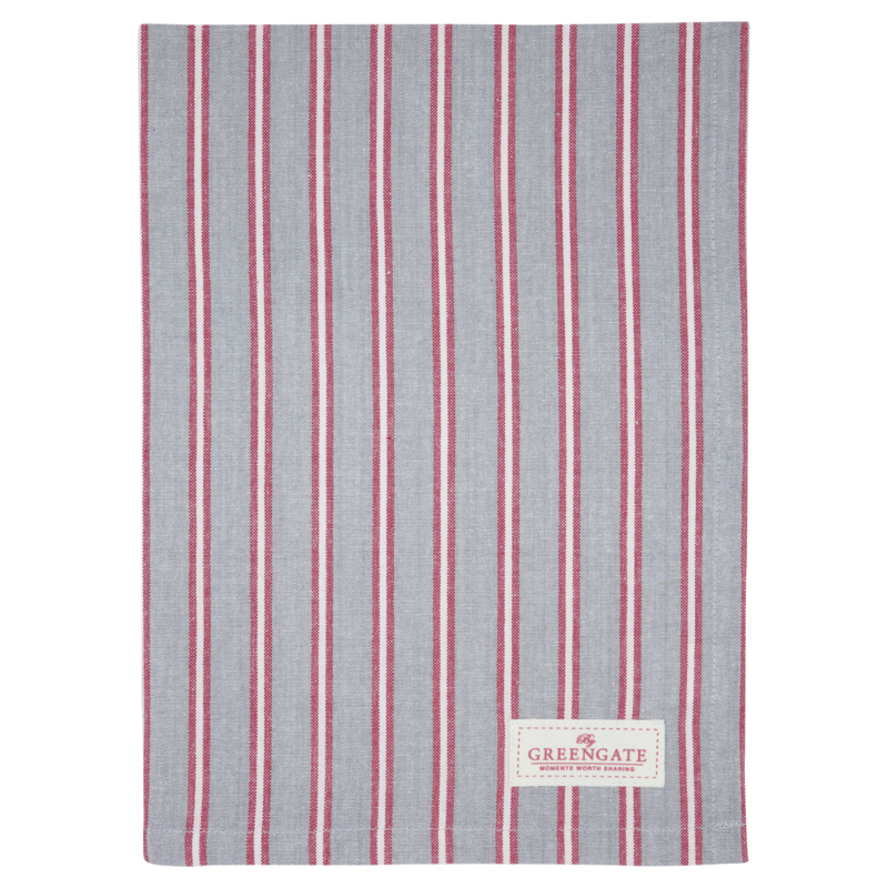 GreenGate Teatowel Riley Pale Grey 50 x 70 cm