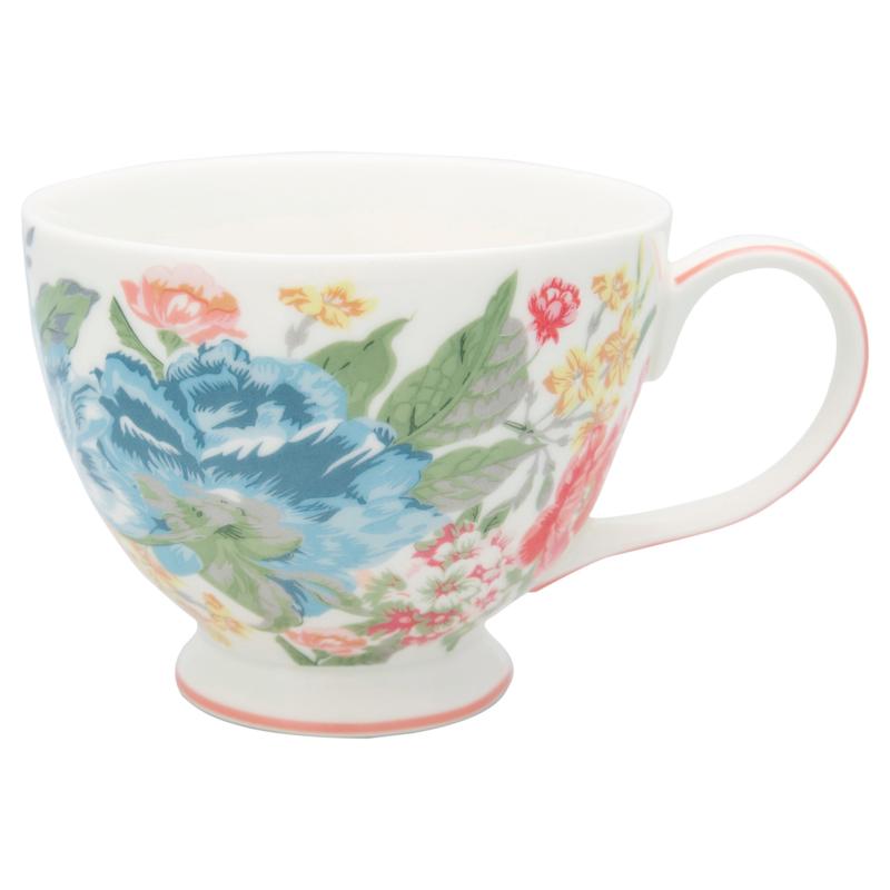 GreenGate Stoneware Teacup Adele White H 9 cm