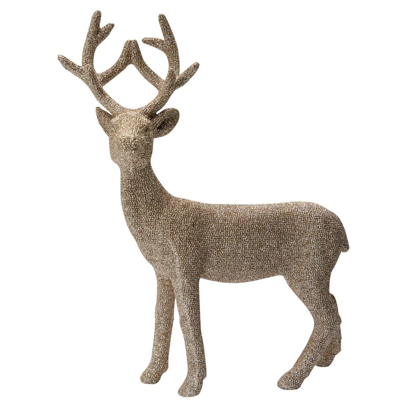 GreenGate Resin Deer Champagne