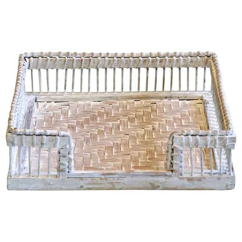 GreenGate Willow Napkin Tray White 3,5 x 19,0 x 19,0 cm