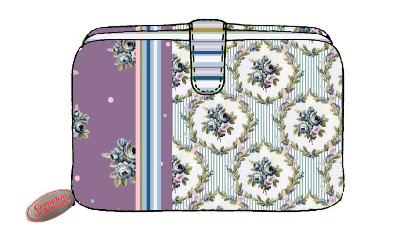 Comptoir de Famille Wallet Mauve 9 x 2,5 x H. 15 cm