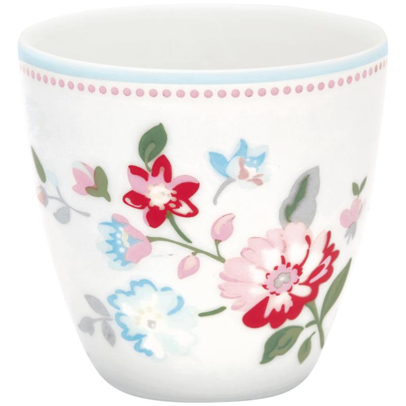 GreenGate Stoneware Mini Latte Cup Sonia White H 6,5 cm