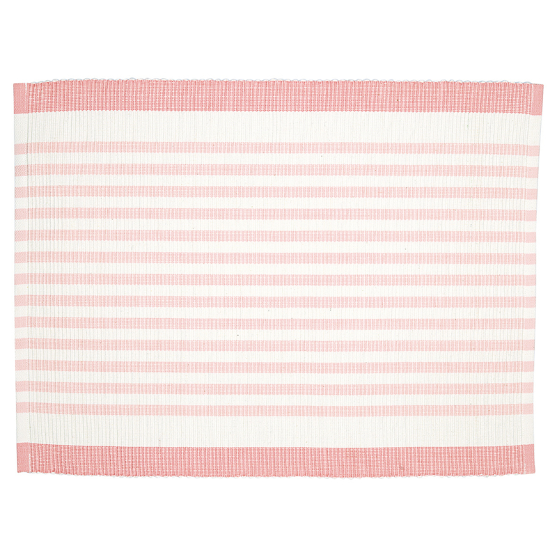 GreenGate Placemat Alice Stripe Pale Pink 35 x 45 cm