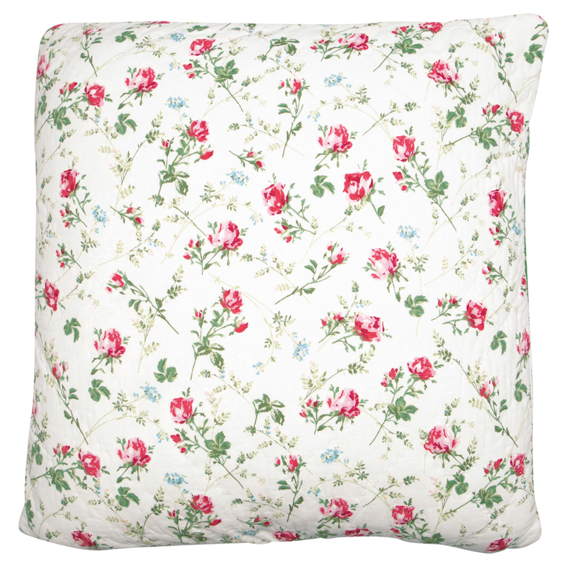 GreenGate Quilted Cushion Constance White 50 x 50 cm