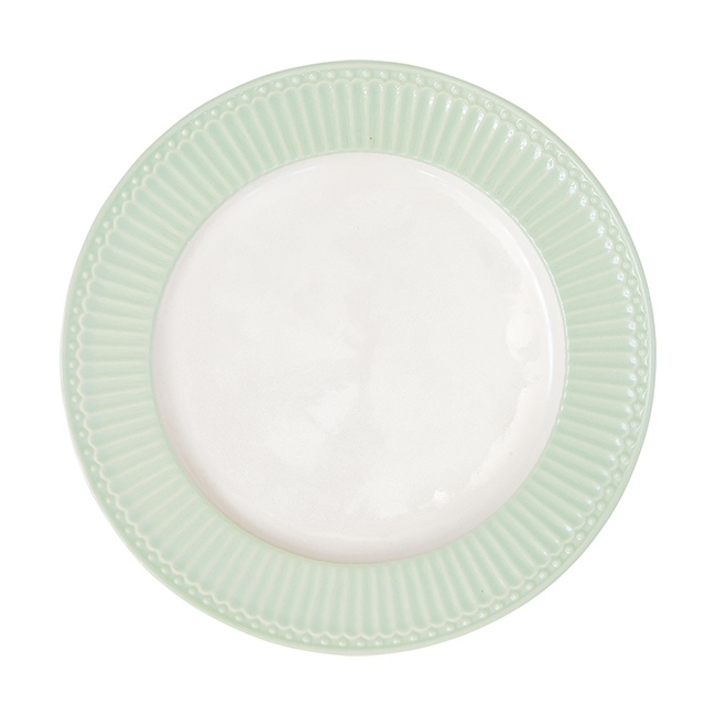 GreenGate Stoneware Dinnerplate Alice Pale Green D 26,5 cm