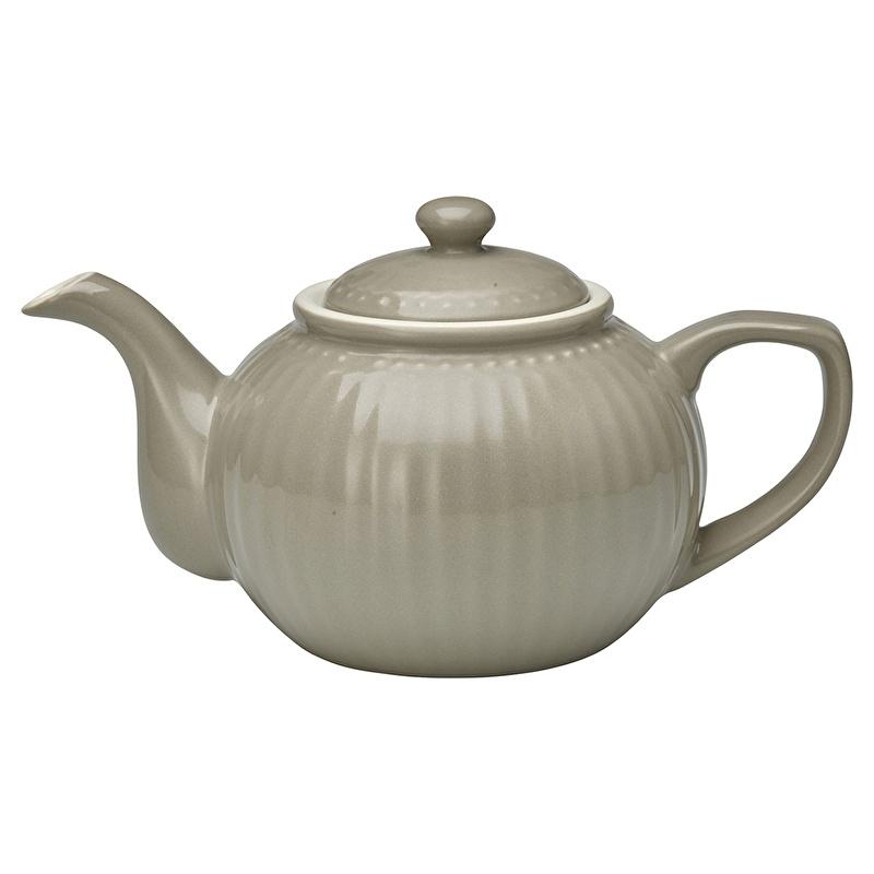 GreenGate Stoneware Teapot Alice Warm Grey H 14 cm