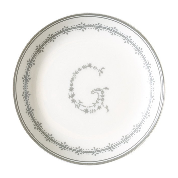 GreenGate Stoneware Saucer G Warm Grey