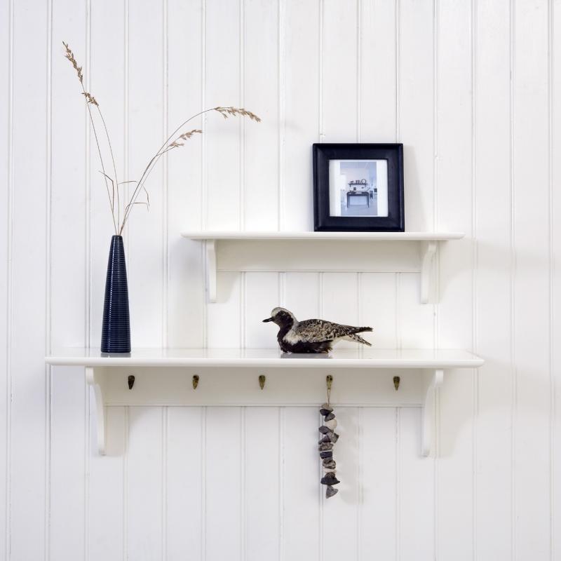 Shelf Oliver with 5 hooks 20 x 90 cm