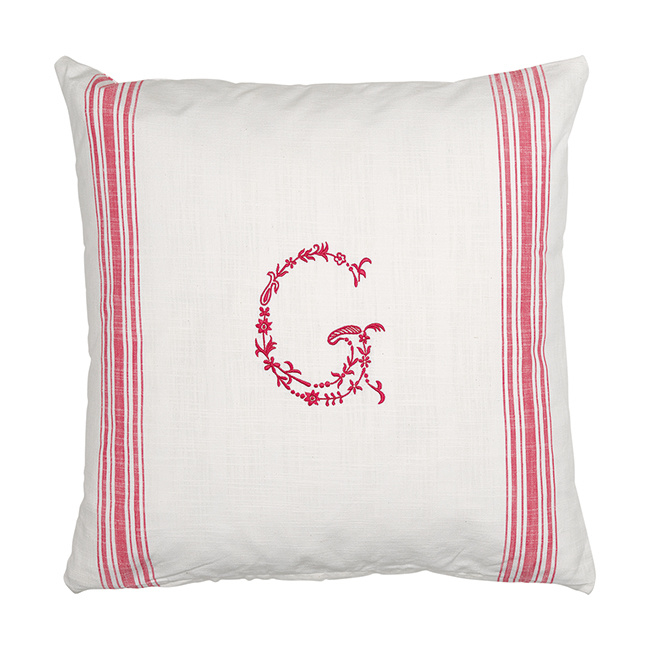 GreenGate Cushion Cover G Raspberry 50x 50 cm