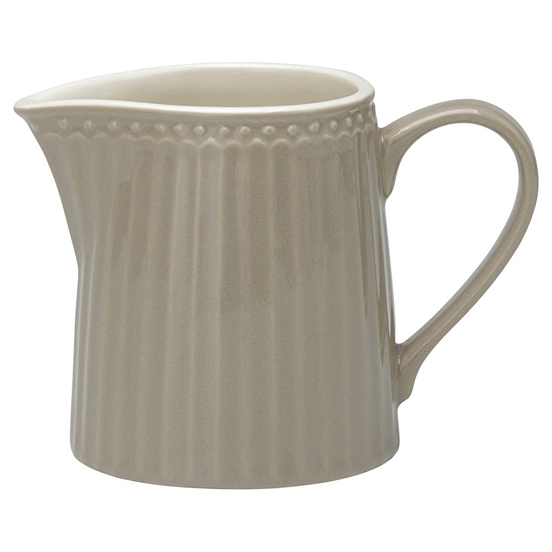 GreenGate Stoneware Creamer Alice Warm Grey H 9 cm