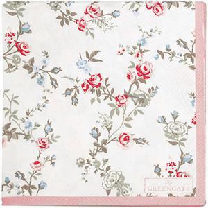 GreenGate Paper Napkin Carly White Small 20 Pieces 25 x 25 cm