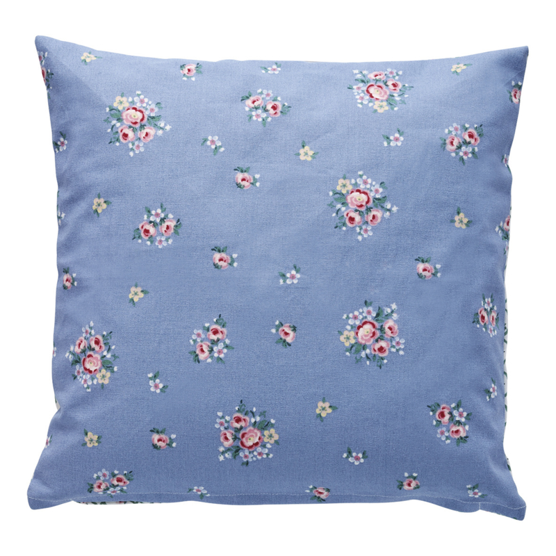 GreenGate Cushion Nicoline Dusty Blue 40 x 40 cm