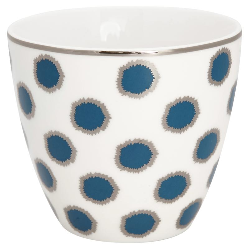 GreenGate Stoneware Latte Cup Savannah Blue H 9 cm