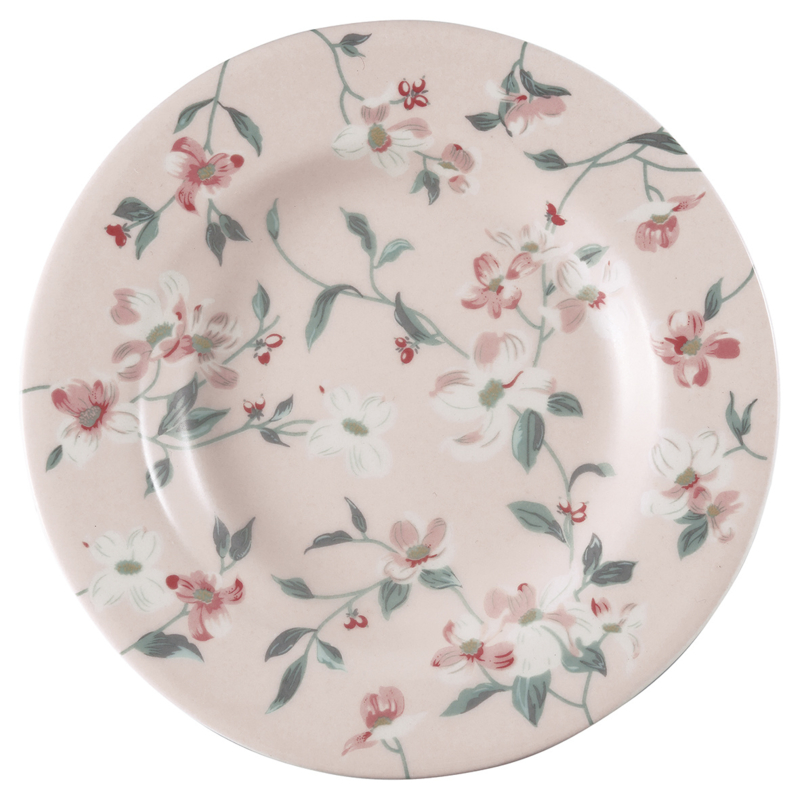 GreenGate Stoneware Small Plate Jolie Pale Pink D 15 cm