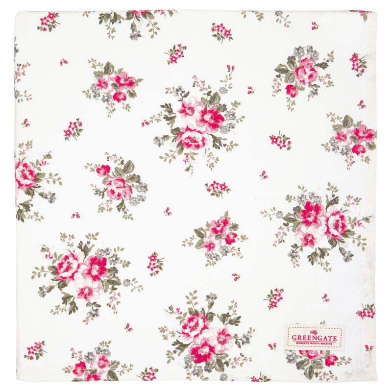 GreenGate Tablecloth Elouise White 150 x 150 cm
