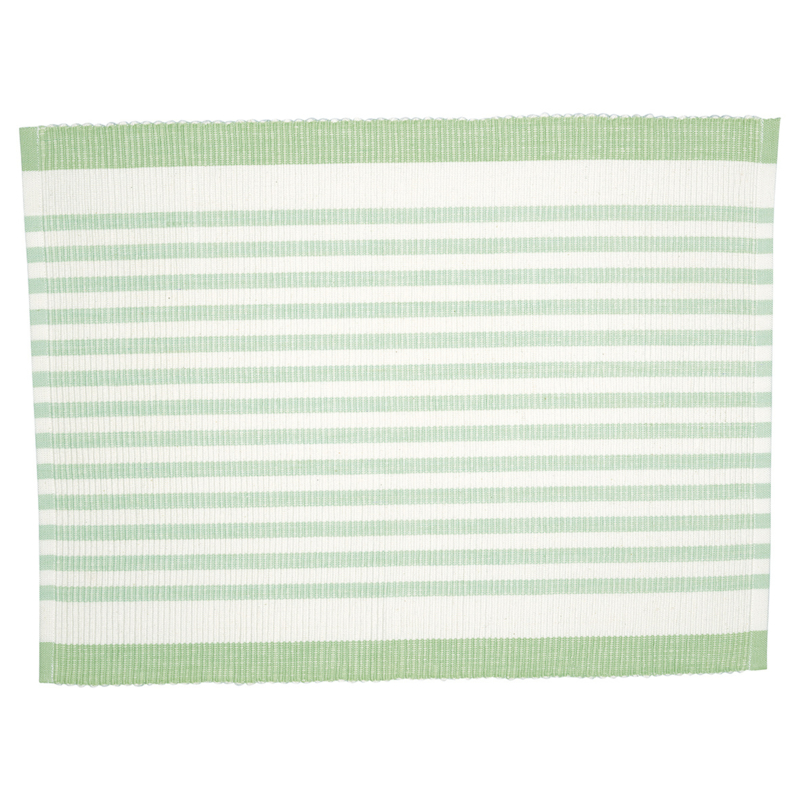 GreenGate Placemat Alice Stripe Pale  Green 35 x 45 cm