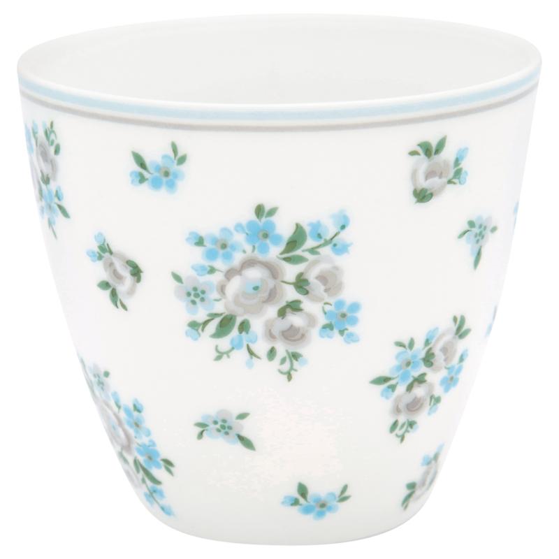 GreenGate Stoneware Latte Cup Nicoline Beige H 9 cm