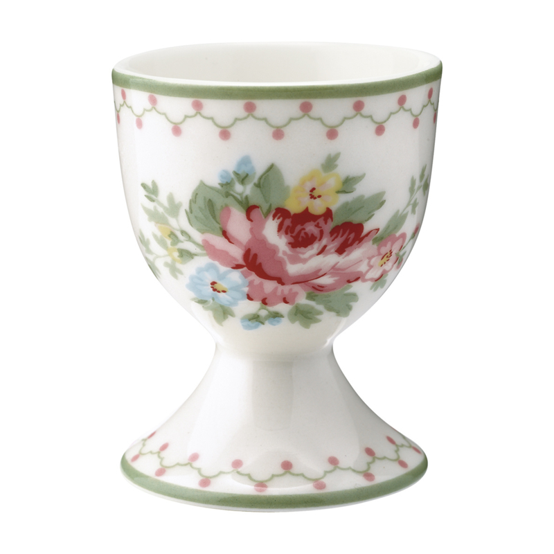 GreenGate Stoneware Egg Cup Aurelia White H 6,5 cm