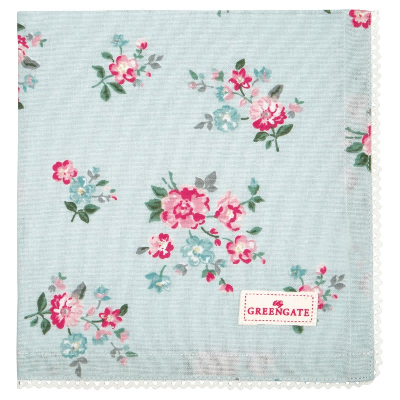 GreenGate Bread Basket Napkin Sonia Pale Blue 40 x 40 cm