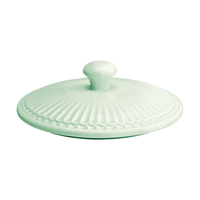 GreenGate Stoneware Lid Alice Pale Green Medium