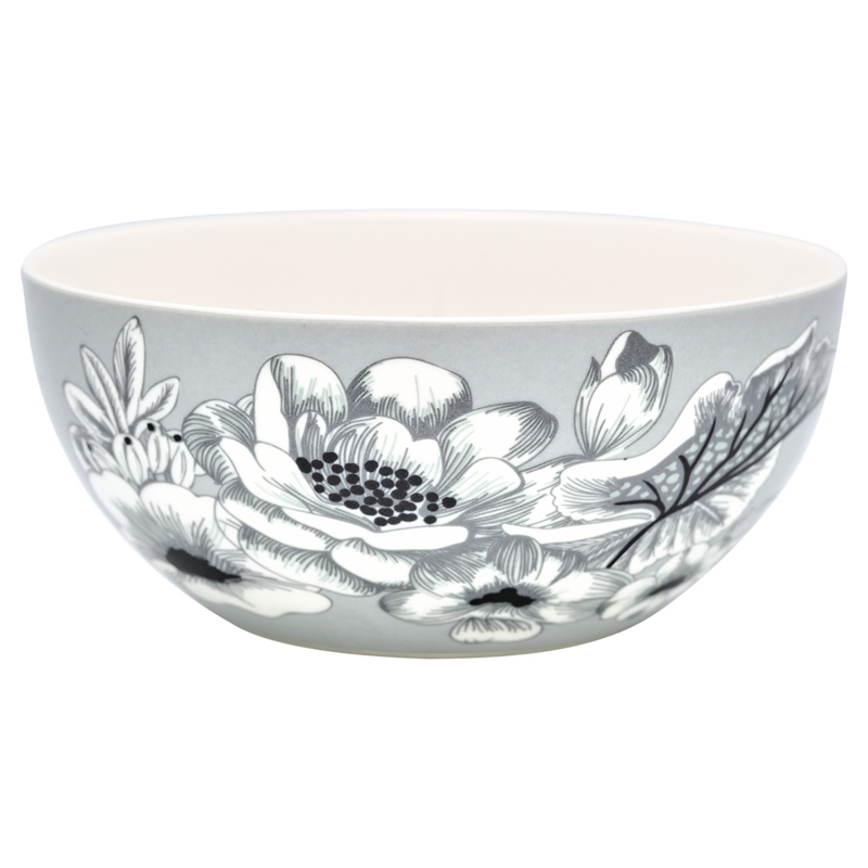 GreenGate Stoneware Cereal Bowl Felicity Grey D 14,7 cm