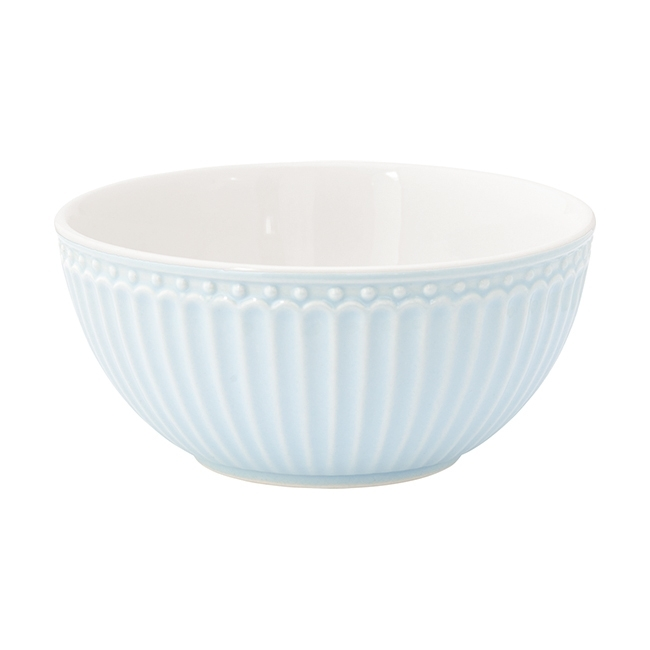 GreenGate Stoneware Cereal Bowl Alice Pale Blue D 14 cm
