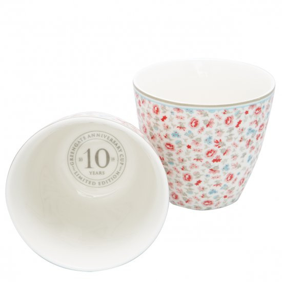 GreenGate Stoneware Latte Cup Tilly Off White H 9 cm Limited Edition
