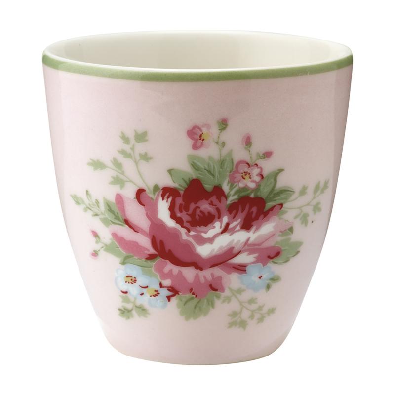 GreenGate Stoneware Mini Latte Cup Aurelia Pale Pink H 6,5 cm