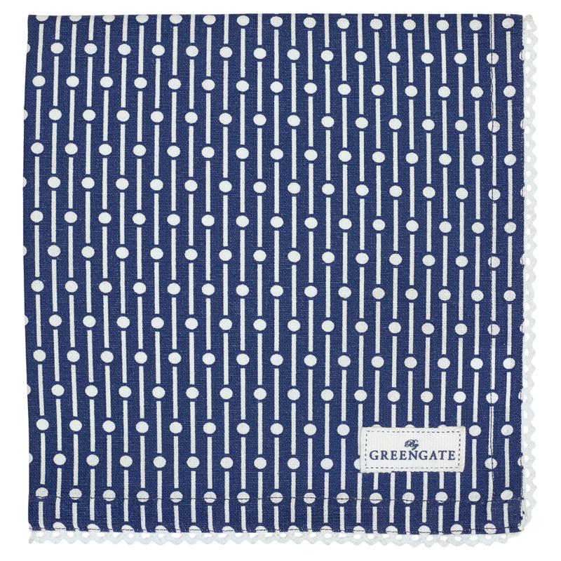 GreenGate Napkin With Lace Dawn Blue 40 x 40 cm