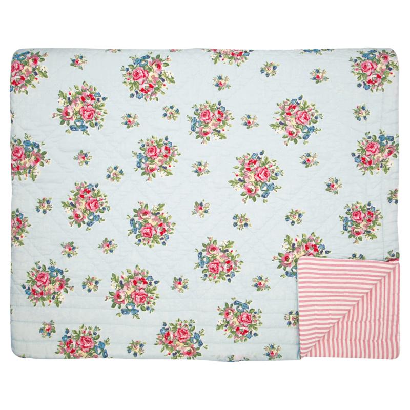 GreenGate Bed Cover Franka Pale Blue 180 x 230 cm
