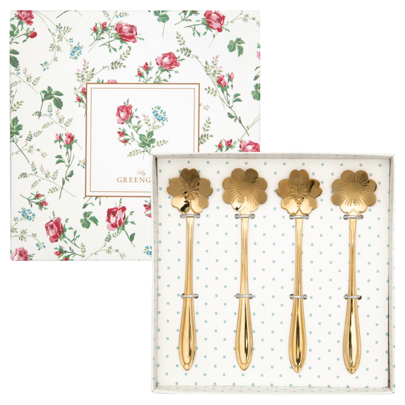 GreenGate Constance Spoon Set Of 4 Gold