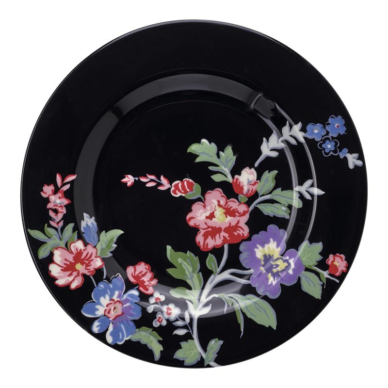 GreenGate Stoneware Small Plate Isobel Black D 15 cm