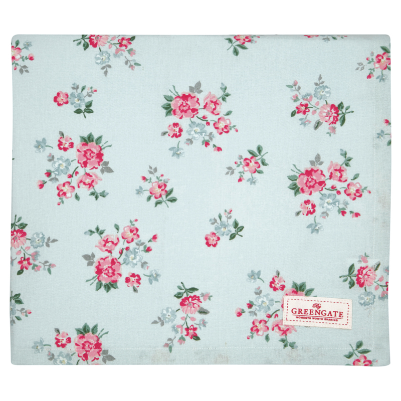 GreenGate Tablecloth Sonia Pale Blue 100 x 100 cm