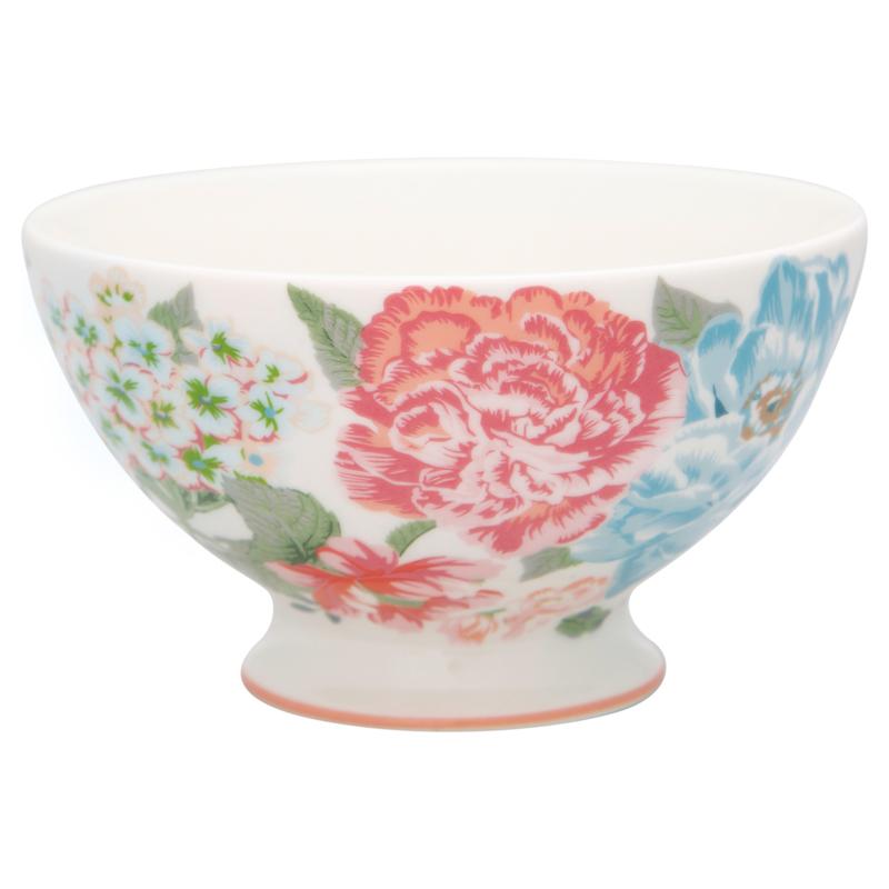GreenGate Stoneware Soup Bowl Adele White D 15 cm