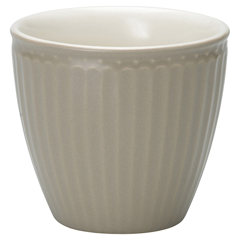 GreenGate Stoneware Latte Cup Alice Warm Grey H 9 cm