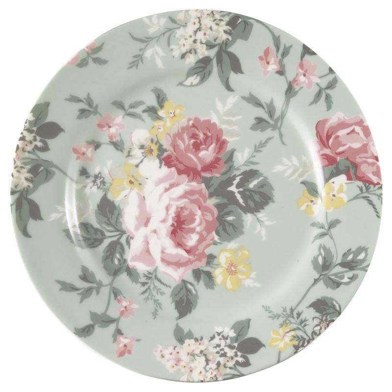 GreenGate Stoneware Plate Josephine Pale Mint D 20,5 cm