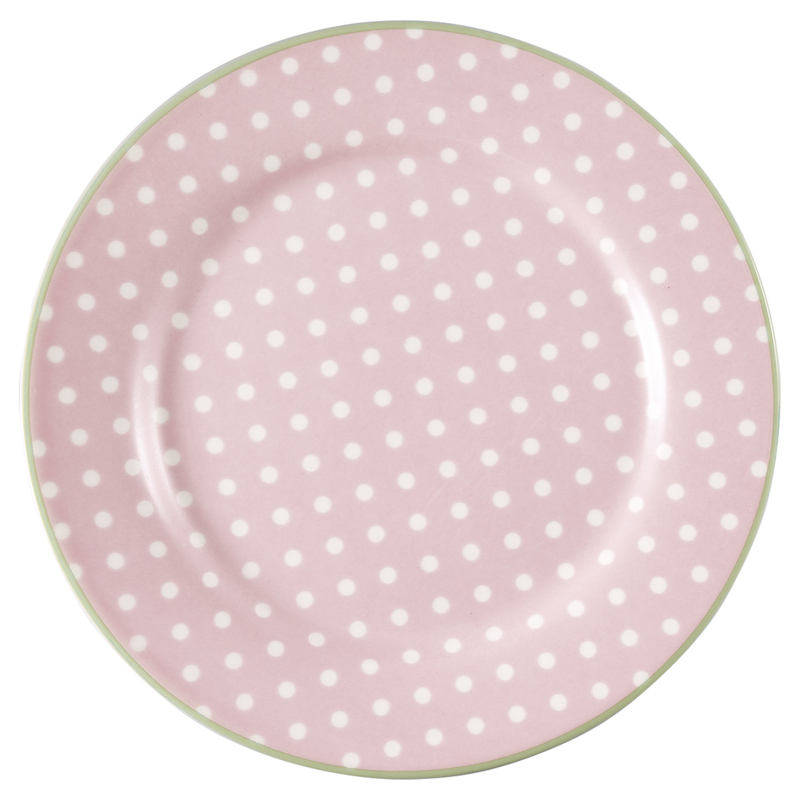 GreenGate Stoneware Plate Spot Pale Pink D 20,5 cm