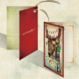 Kerst Kadokaartje - Ezel